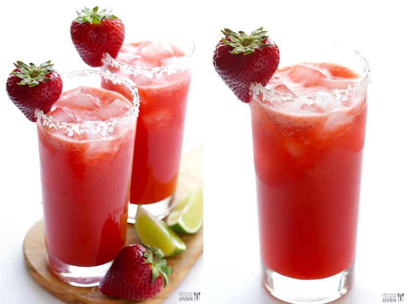 drinks para o verão marguerita de morango