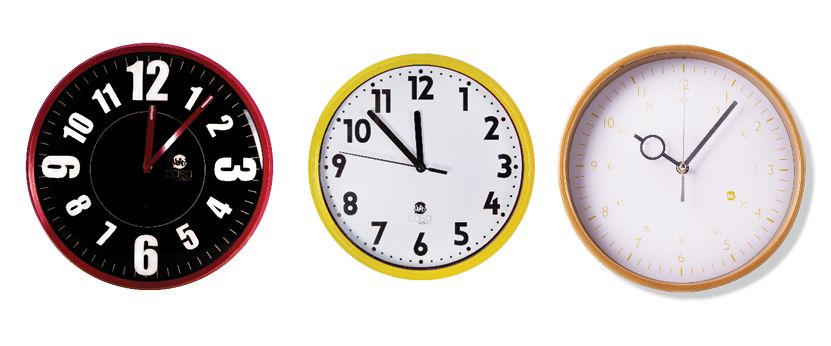 relógios para decoração