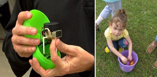 The dad who created beeping eggs so his blind daughter could participate in an Easter egg hunt.