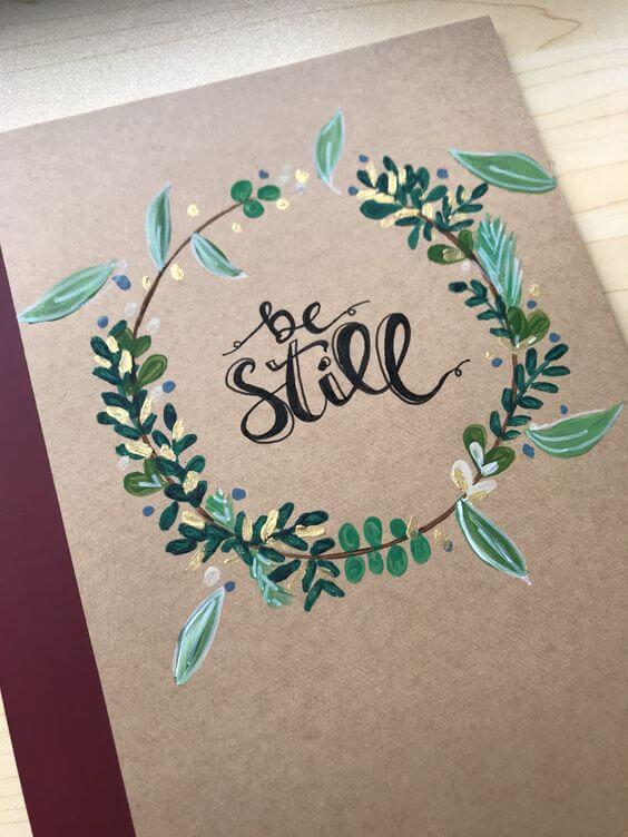 personalizar caderno lettering