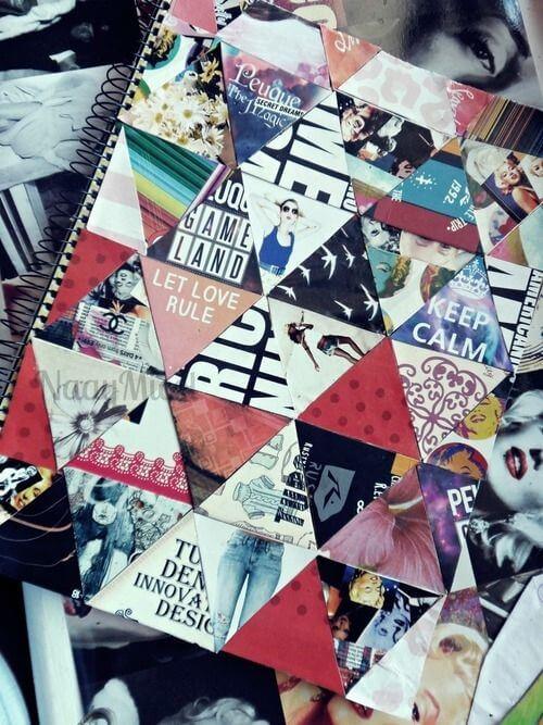 personalizar caderno colagem